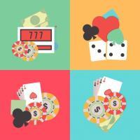 illustration jeux de casino cartes dés jetons billets